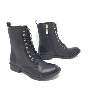 NIB Bebe Olsen Combat Boots Black Size 7